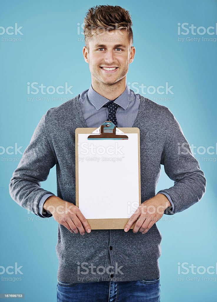 Sign this please! royalty-free stock photo