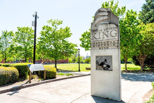 在佐治亞州的國家歷史遺址馬丁·路德·金 - martin luther king jr 個照片及圖片檔
