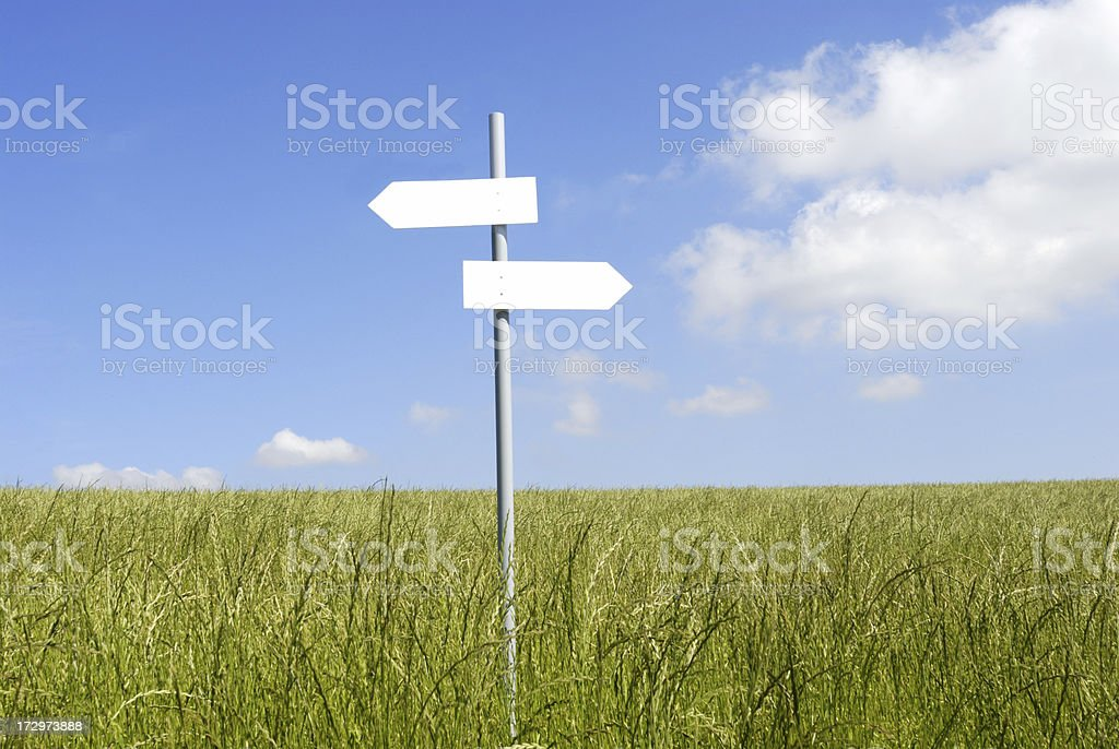 sign to nowhere stock photo