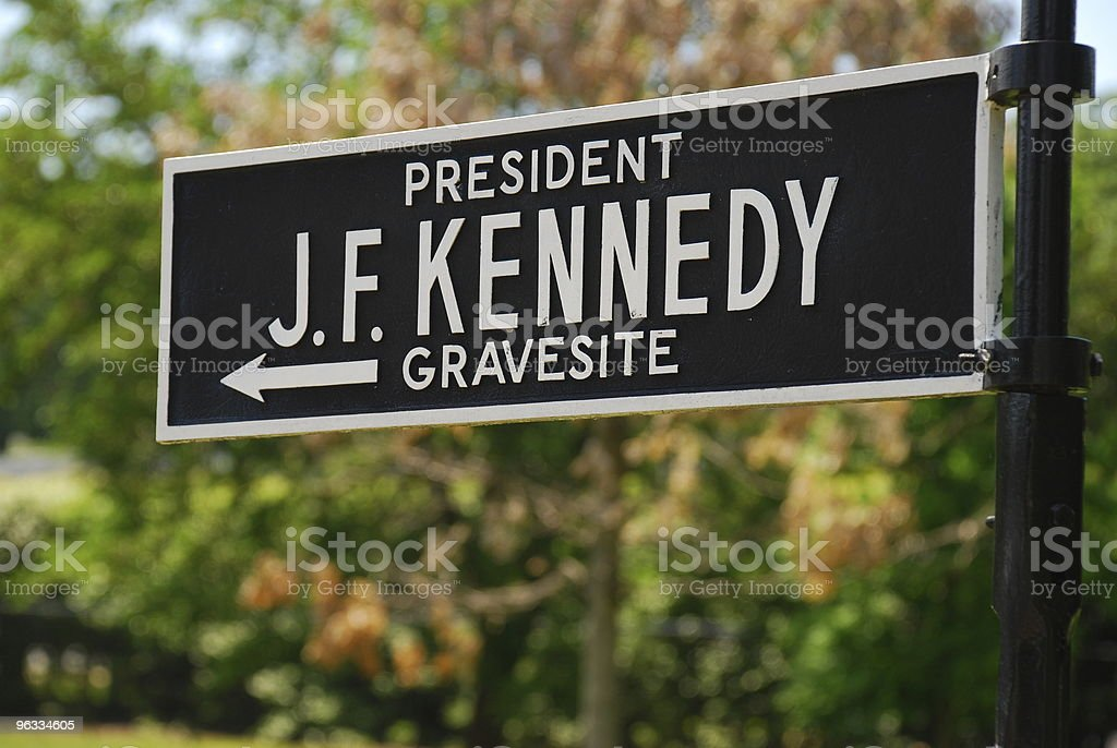 J.F. Kennedy Grave Sign royalty-free stock photo