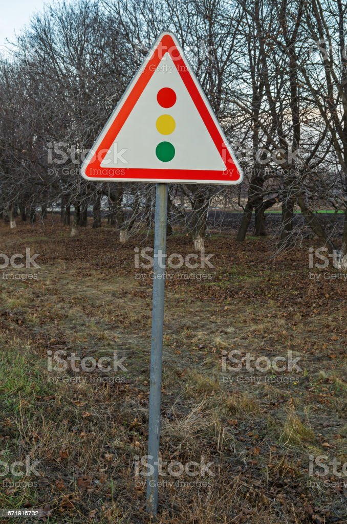 Sign traffic light royalty-free stock photo