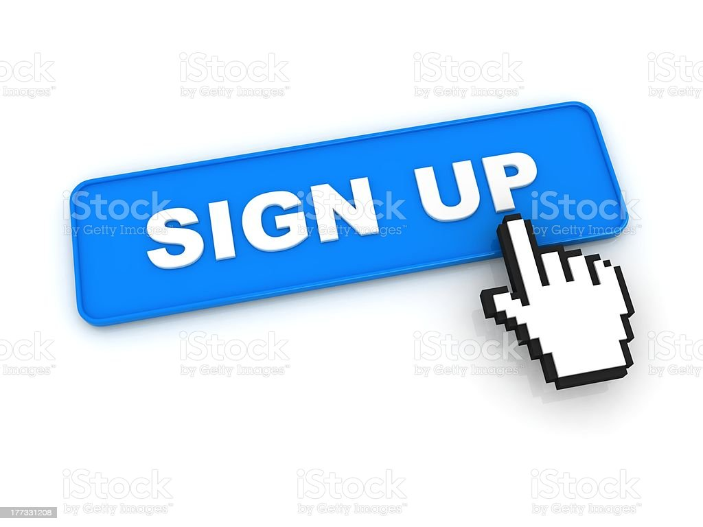 Sign Up Button royalty-free stock photo