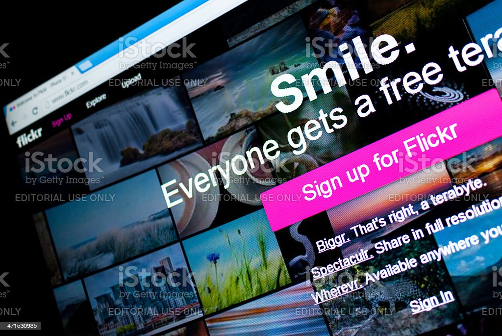 Sign up for Flickr stock photo