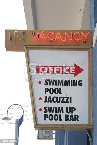 521911567 istock photo Sign vacancy 184914653
