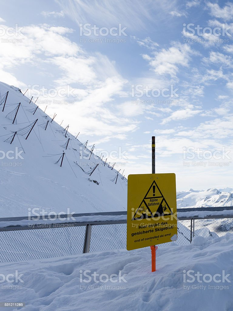 sign warning stock photo