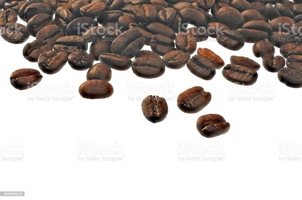 Sign with coffee beans stock photo
