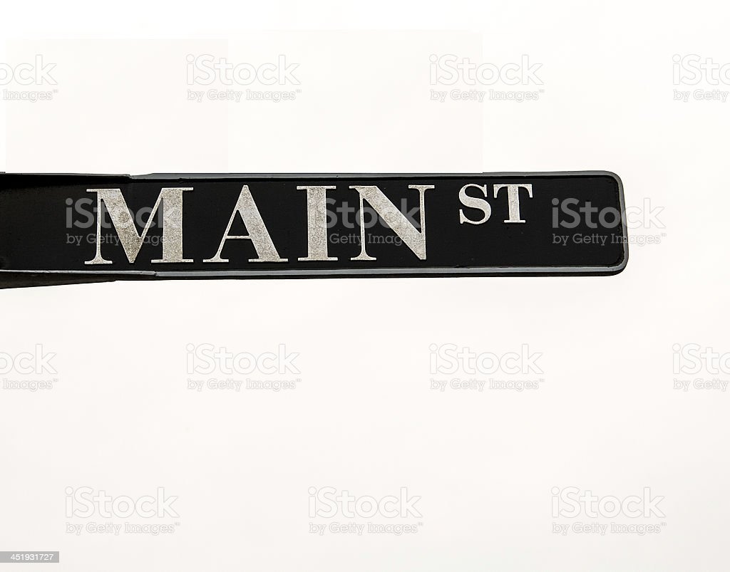 Sign with Main St stock photo
