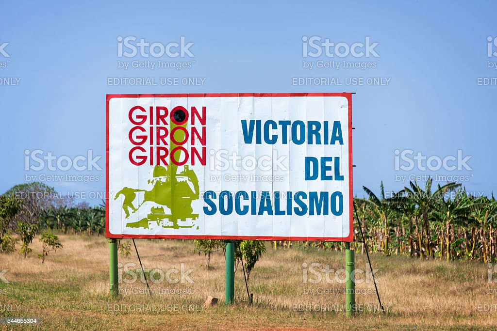Sign With Text Meaning Victory Of Socialism In Cuba Stock Photo