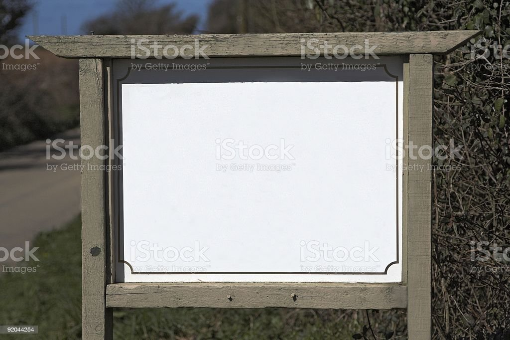 Sign With Wooden Surround royalty-free stock photo