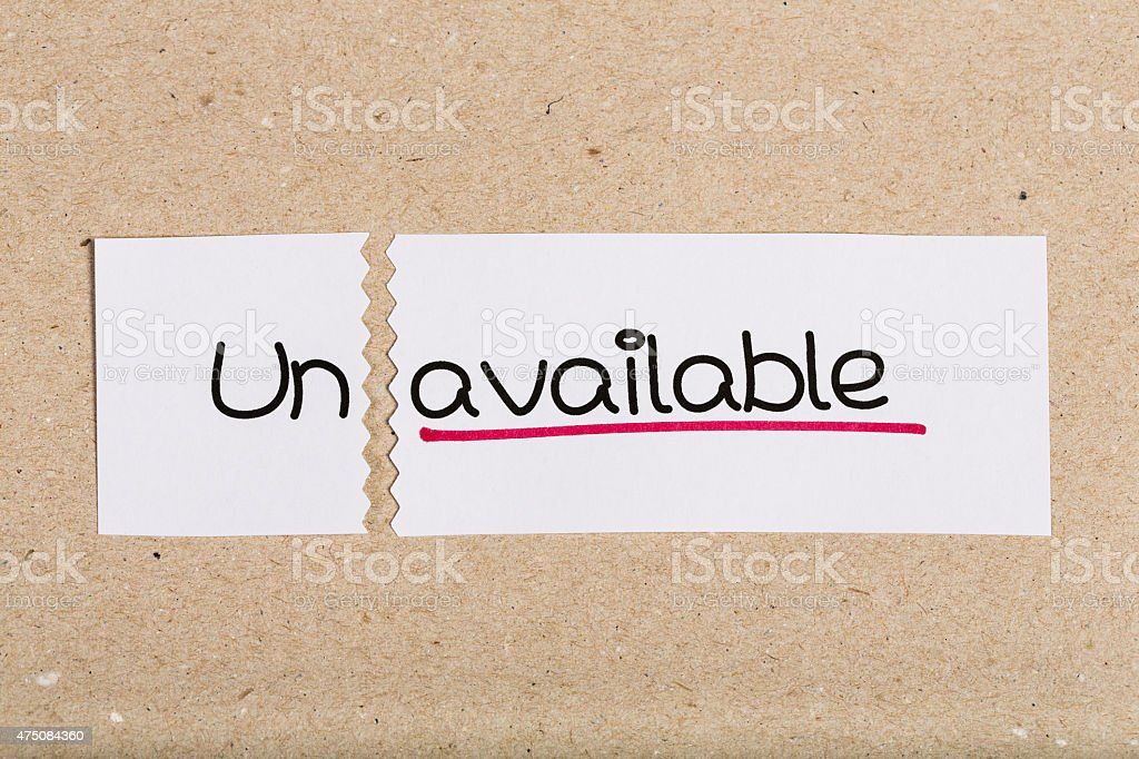 Sign with word unavailable turned into available stock photo