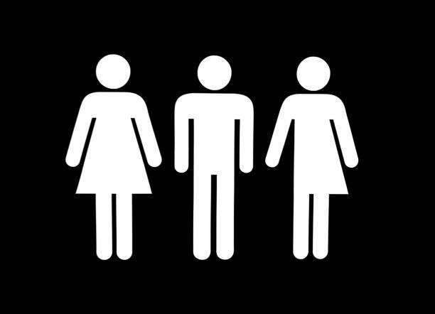 """女性、男性、トランスジェンダーに署名する - """"gender fluid"""" ストックフォトと画像"""