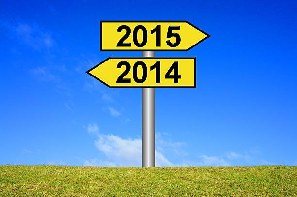 Sign year 2014 2015 Sign year 2014 2015 alternately stock pictures, royalty-free photos & images