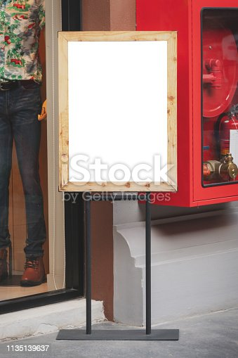istock Signage and signboard in shopping mall with copy space. 1135139637
