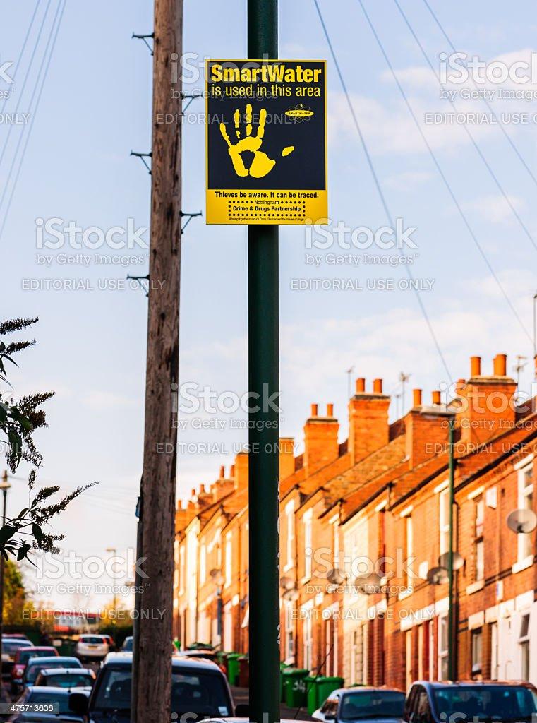 SMARTWATER signage in Sneinton, Nottingham, England stock photo