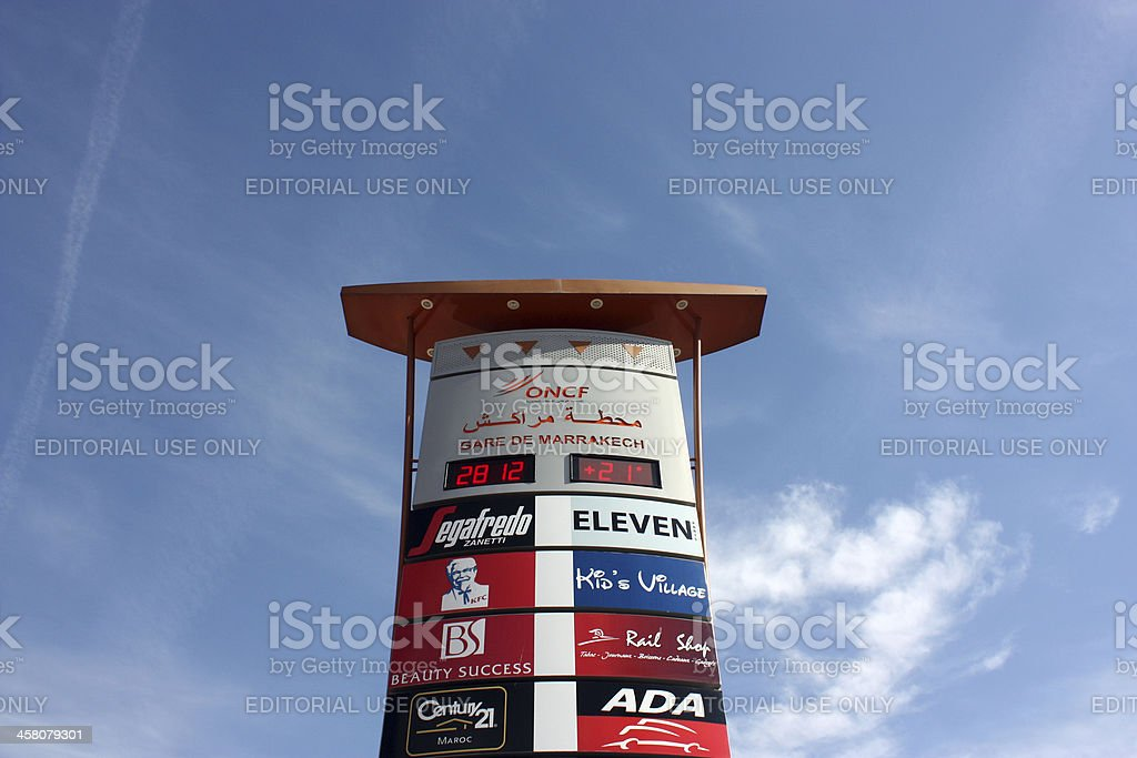 Signage or Totem Pylon stock photo