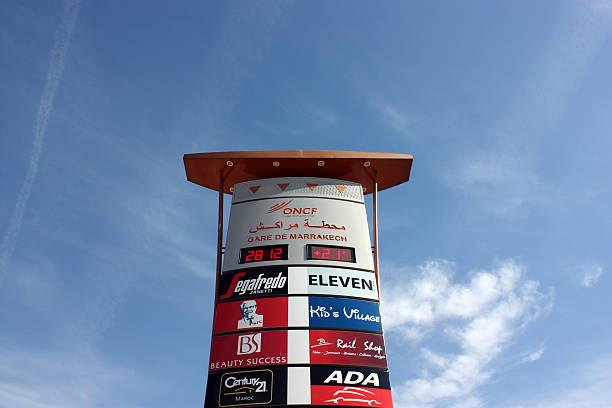Signage or Totem Pylon stock photo