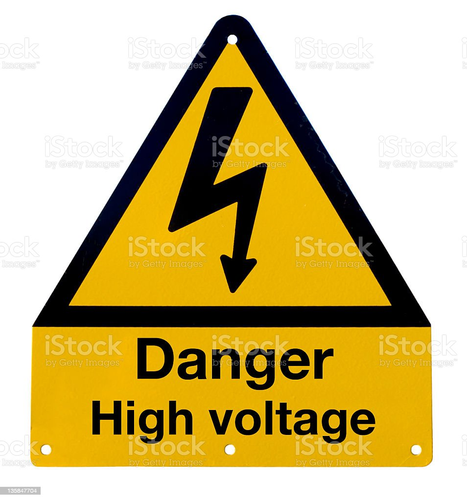 Signal danger high voltage royalty-free stock photo