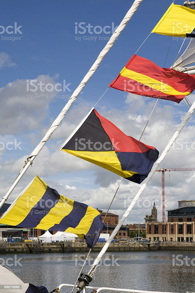 Signal Flags stock photo
