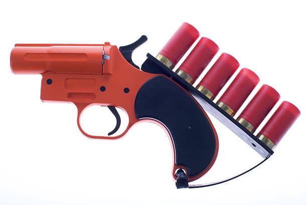 Signal Flare Gun stock photo