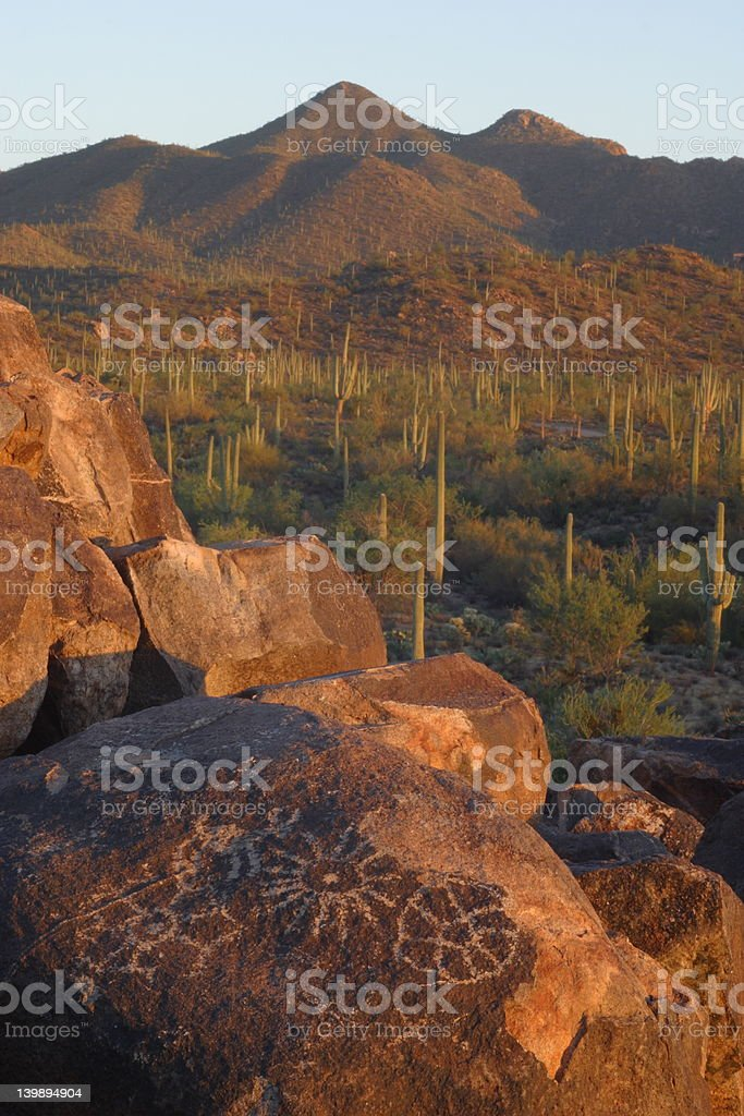 Signal Hill Petrogyphs royalty-free stock photo
