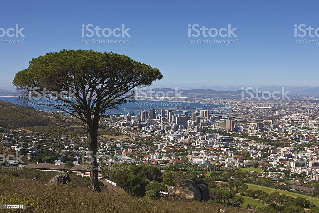 Signal Hill view stock photo