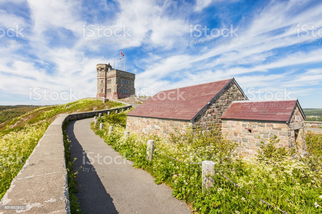 Signal Hill with Cabot Tower in St John's Newfoundland Canada stock photo