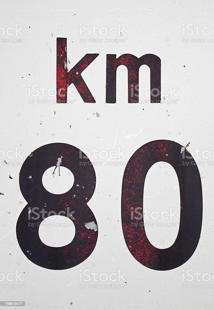 Signal kilometer royalty-free stock photo
