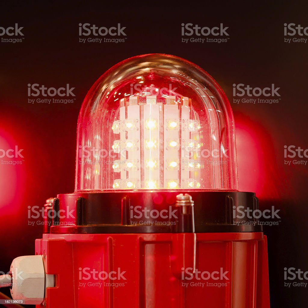 signal led lamp stock photo