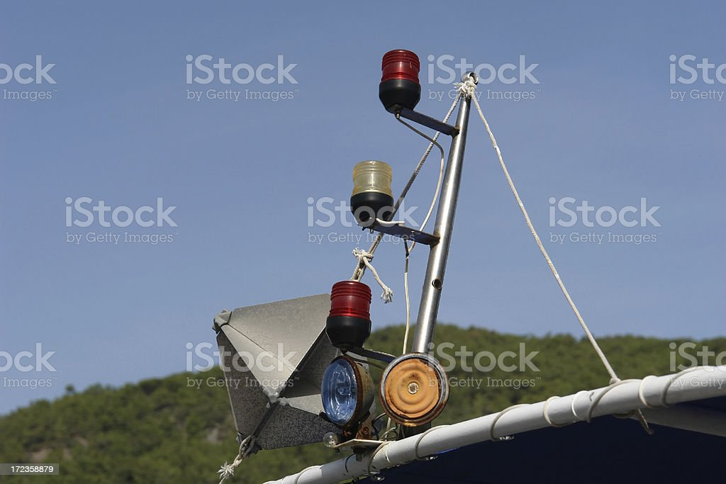signal of a ship royalty-free stock photo