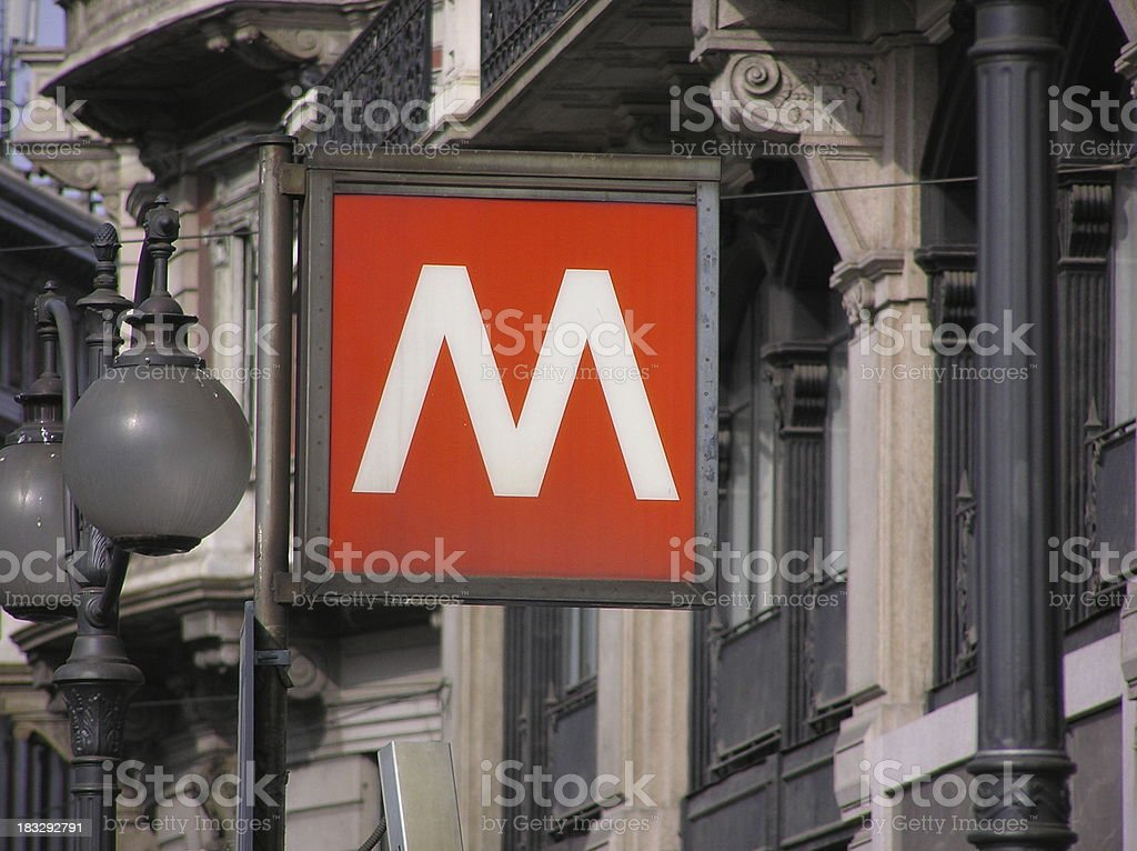 Signal of the subway in Milan royalty-free stock photo