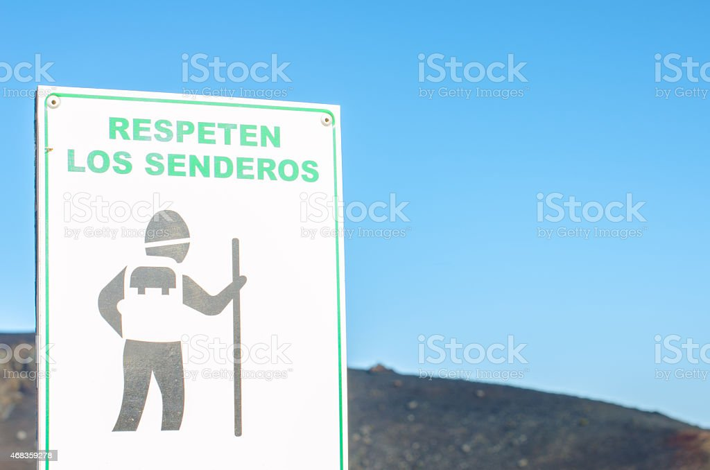 Signal respect the trails. royalty-free stock photo