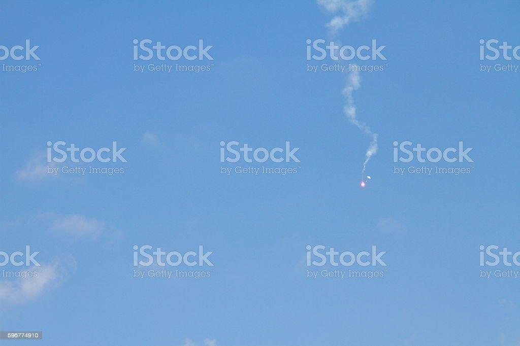 Signal rocket stock photo