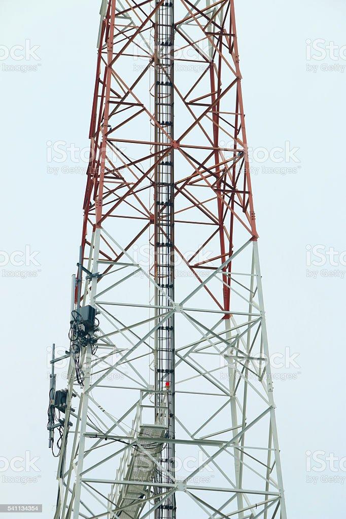 Signal telecommunication base station stock photo
