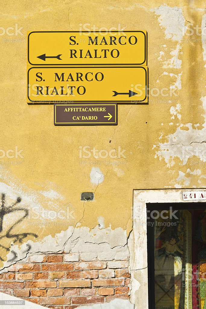 Signal to San Marco and Rialto royalty-free stock photo