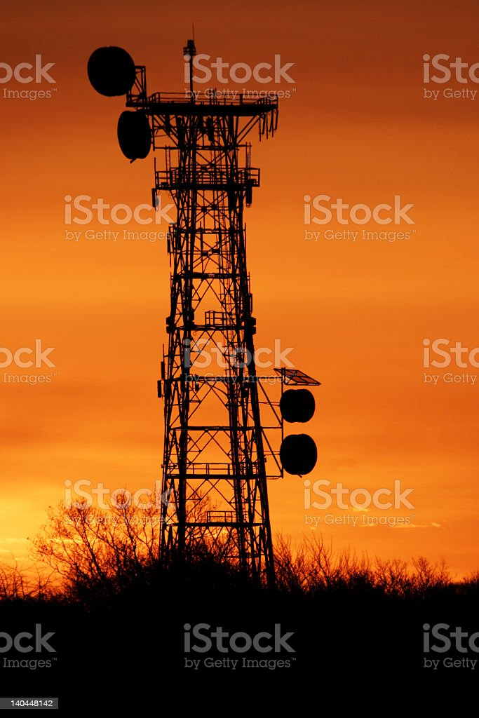 Signal Tower royalty-free stock photo
