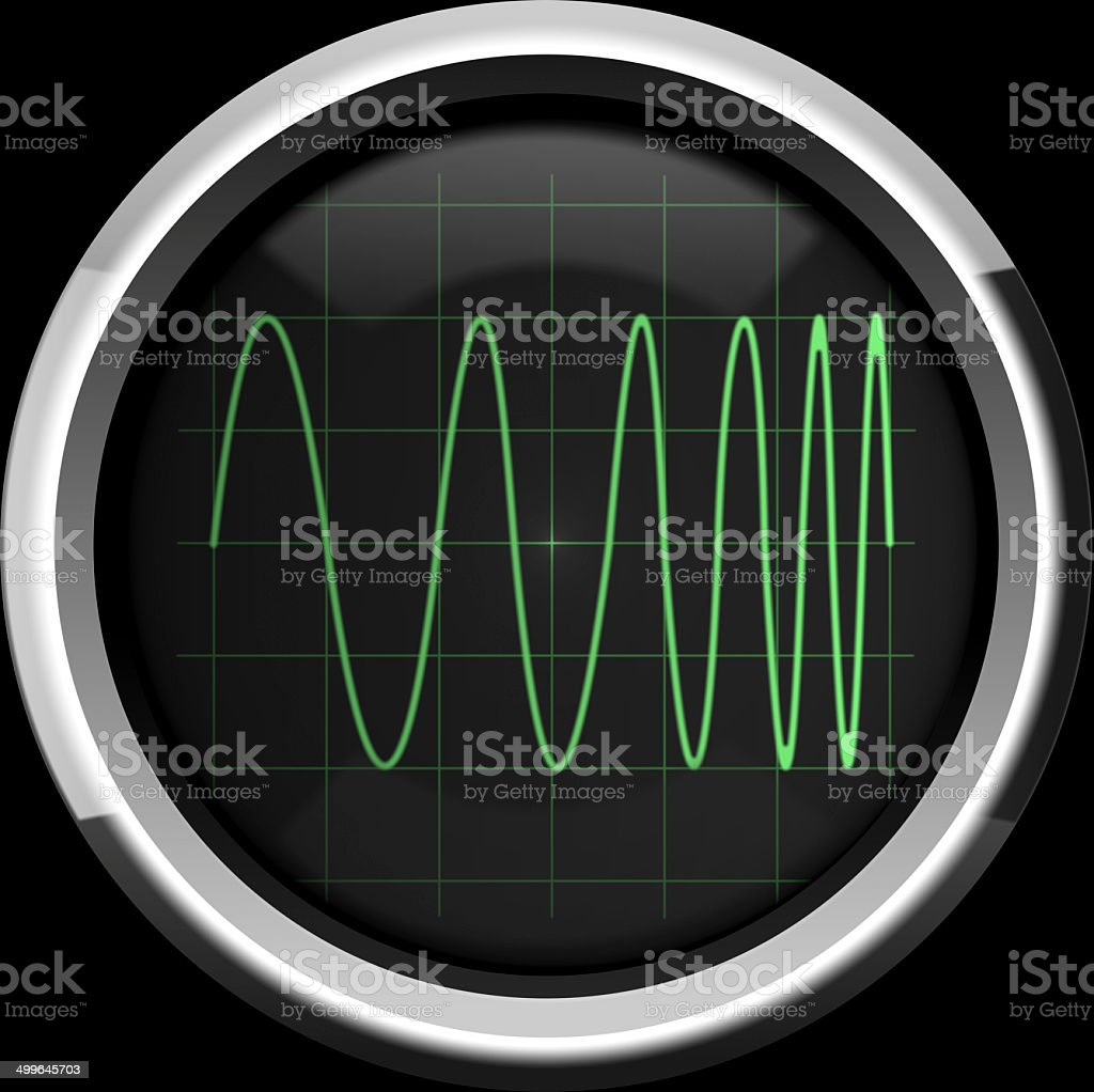 Signal with frequency modulation (FM) stock photo