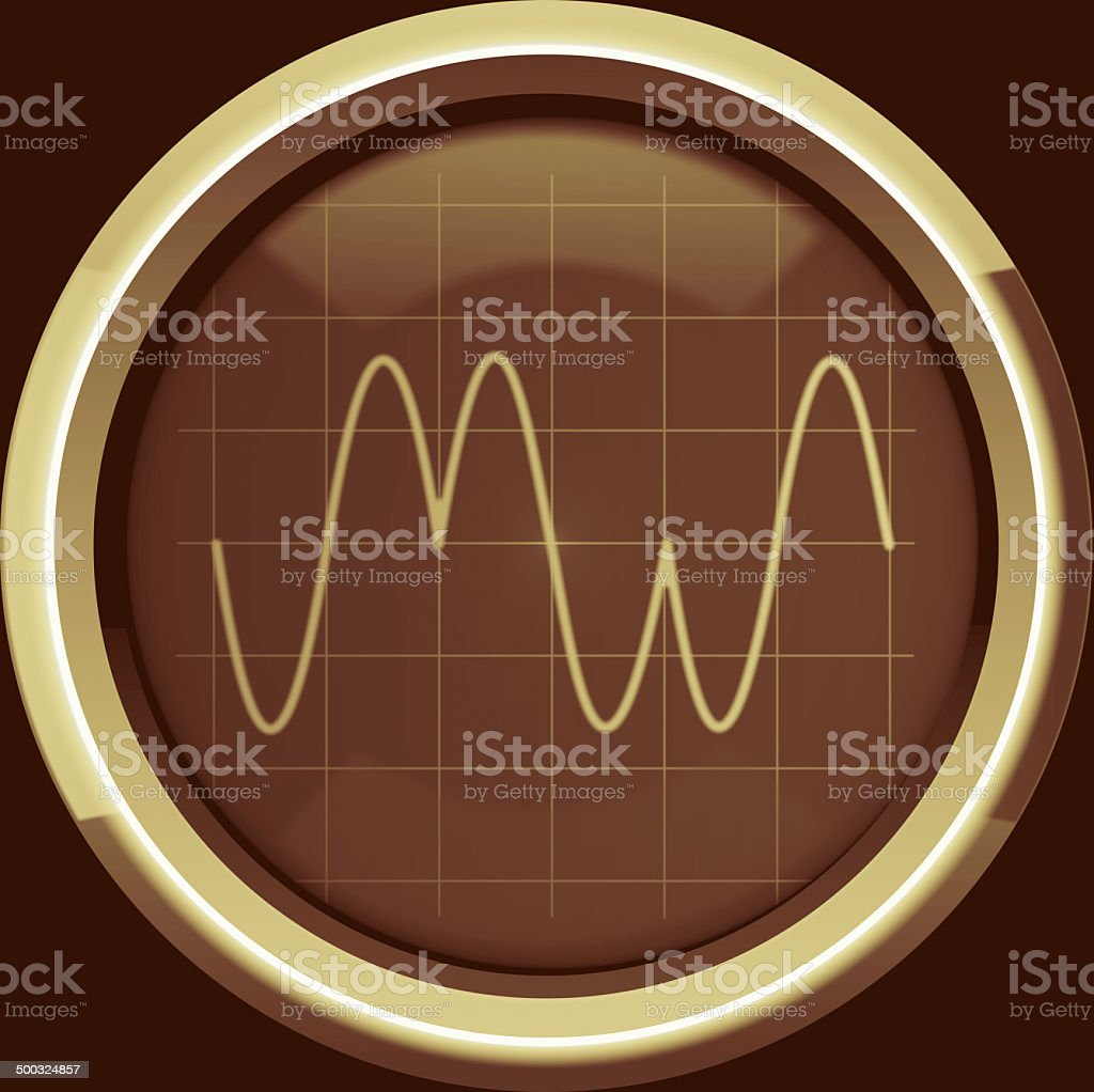 Signal with phase modulation (PM) in brown tones stock photo