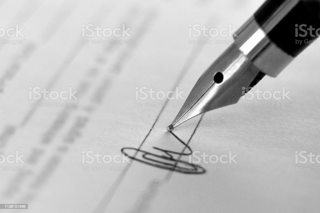 signature documents signature documents Adult Stock Photo