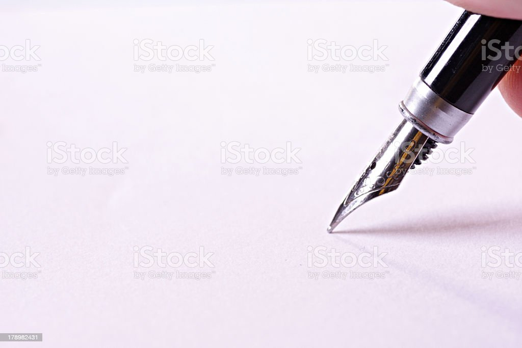 Unterschrift royalty-free stock photo