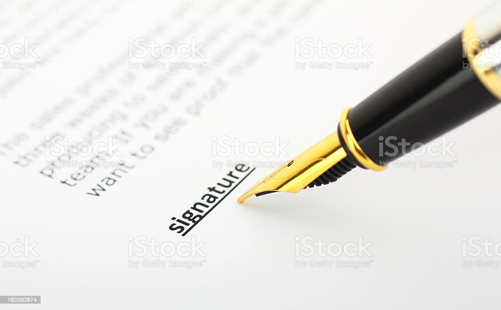 Signature royalty-free stock photo