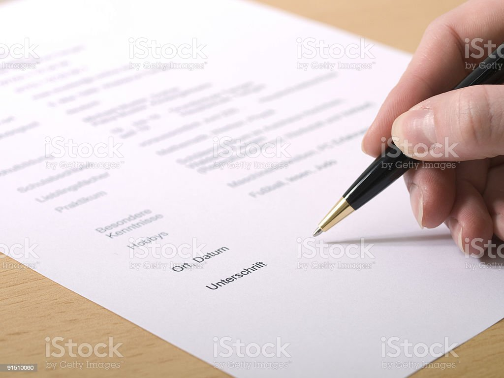 Signature - Royalty-free Color Image Stock Photo