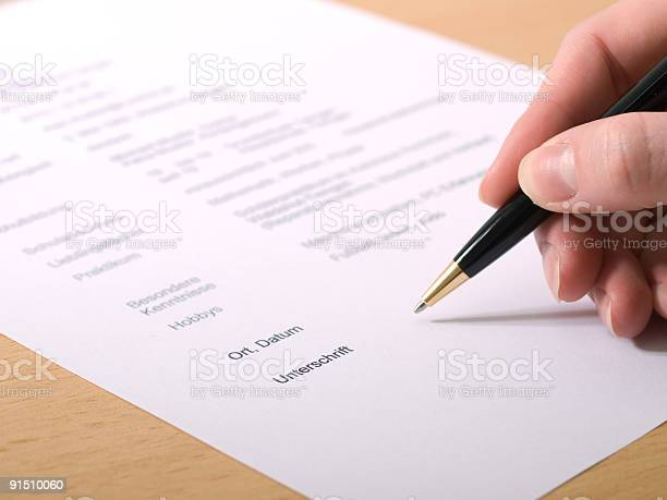 Signature Stock Photo - Download Image Now