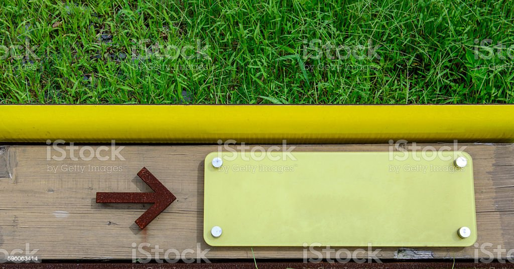 Signboard metal and wood royalty-free stock photo