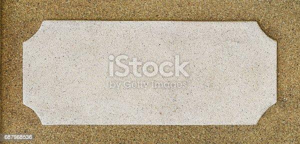 istock Signboard on stone concrete texture 687968536