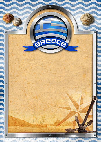 istock Signboard with Greek Flag 466077776