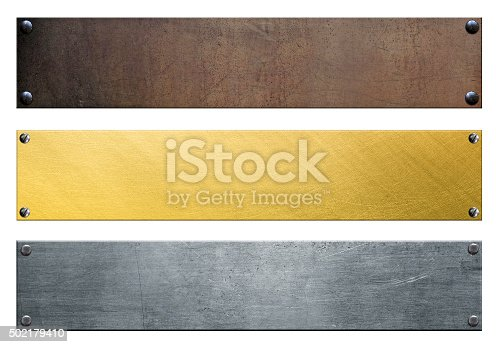 istock Signboards isolated on white 502179410