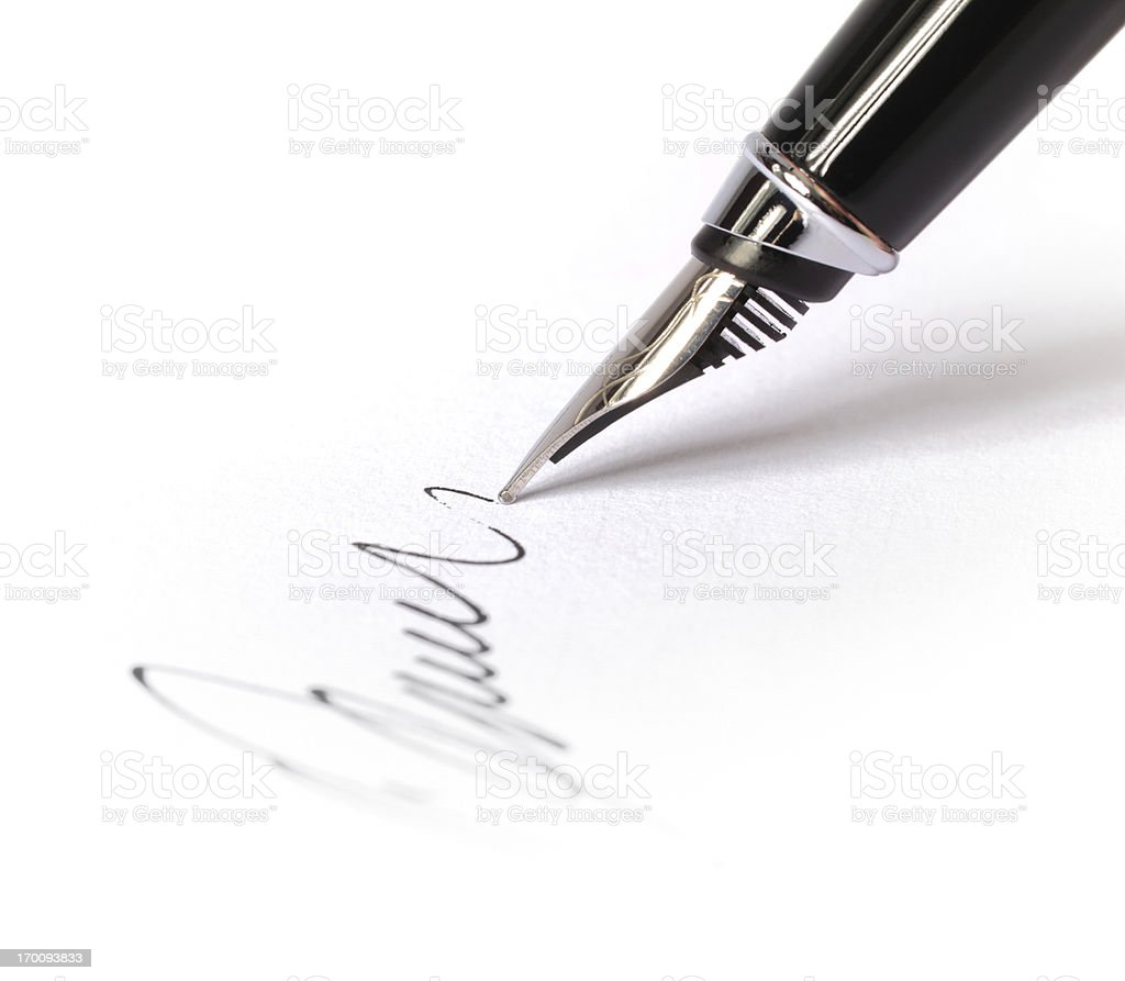 Signing a Blank Document royalty-free stock photo