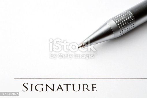 istock Signing a document 471067875