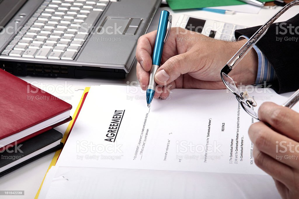 Signing Agreement royalty-free stock photo