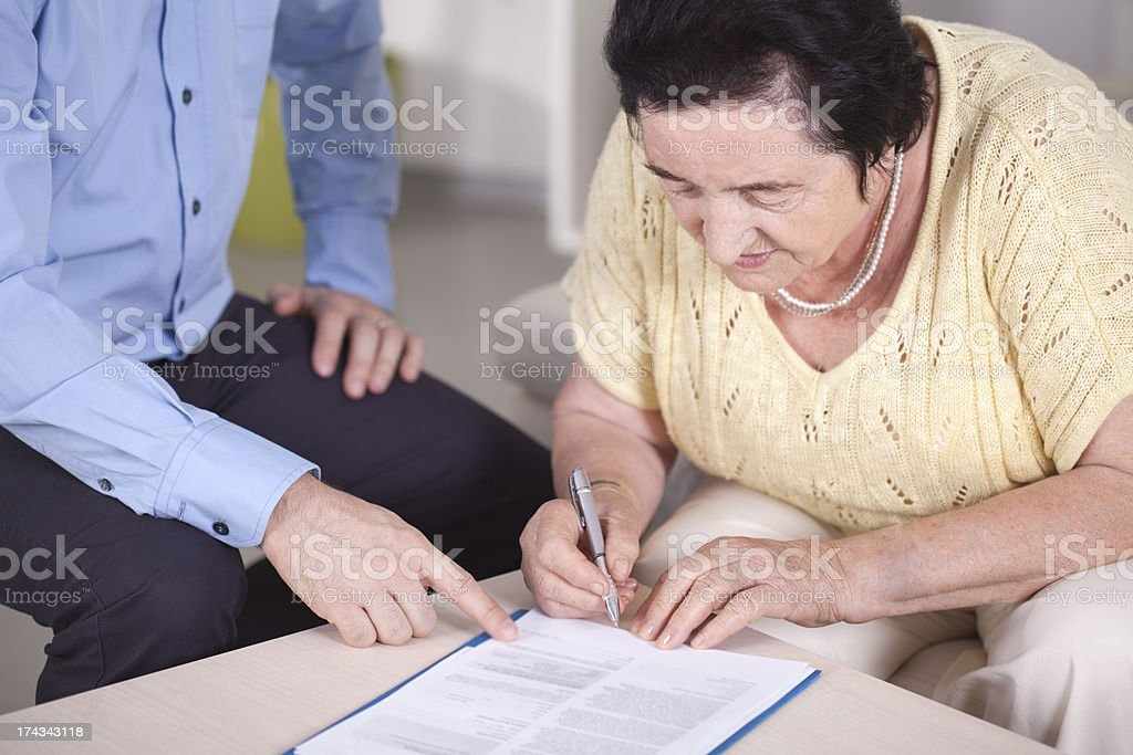 Signing document. royalty-free stock photo